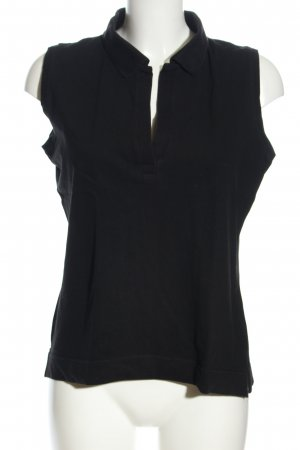 H&M Polo Top schwarz Casual-Look