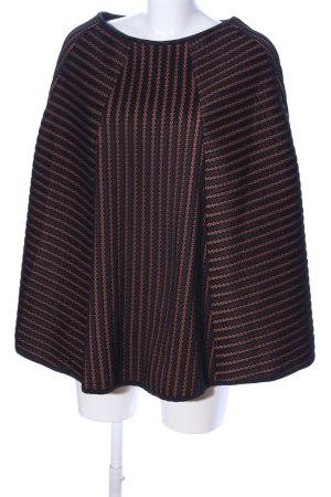 H&M Poncho negro-naranja claro estampado a rayas look casual