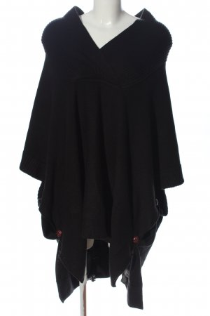 H&M Poncho negro look casual