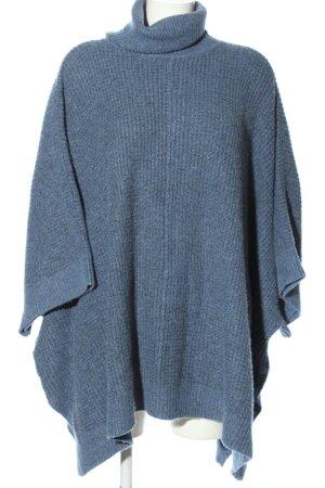 H&M Poncho bleu moucheté style décontracté