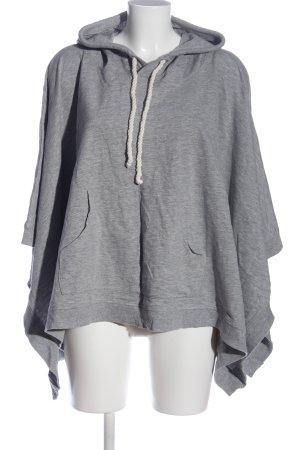 H&M Poncho gris clair moucheté style décontracté