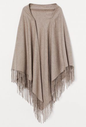 H&M Premium Stole grey brown mixture fibre