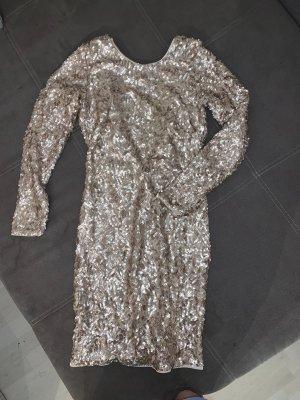 H&M Premium Collection Pailletten Kleid mit tiefem Rückenausschnitt in Größe 38 neu ungetragen