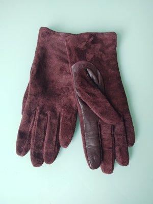 H&M Premium Leather Gloves bordeaux