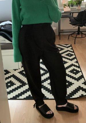 H&M Premium Pantalon en laine noir laine