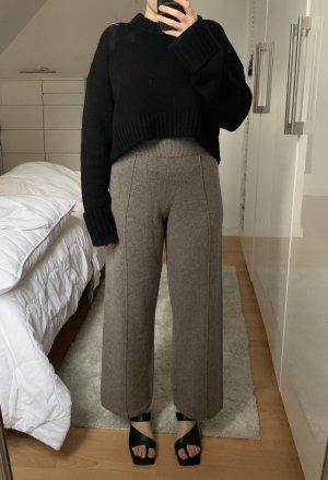 H&M Premium Woolen Trousers grey brown
