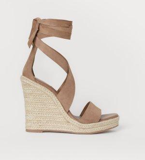 H&M Premium Platform Sandals beige-cream