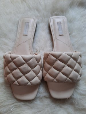 H&M Comfort Sandals cream leather