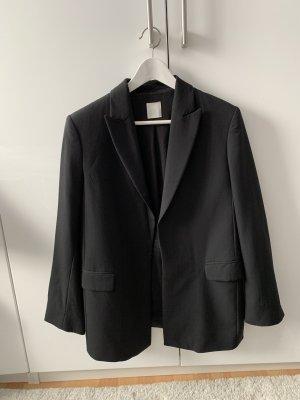 H&M Premium Wool Blazer black wool