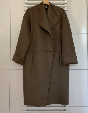 H&M Premium Oversized Coat grey brown wool