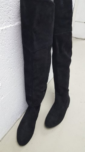 H&M Premium Botas sobre la rodilla negro