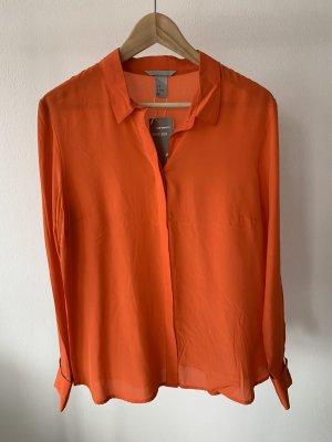 H&M premium Seidenbluse Orange Neu mit Etikett