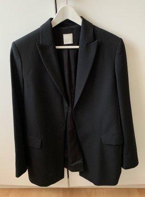 H&M Premium Blazer de lana negro Lana