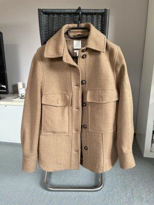 H&M Premium Veste en laine marron clair-brun sable