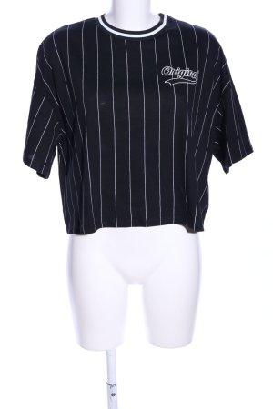 H&M Print-Shirt schwarz-weiß Motivdruck Casual-Look