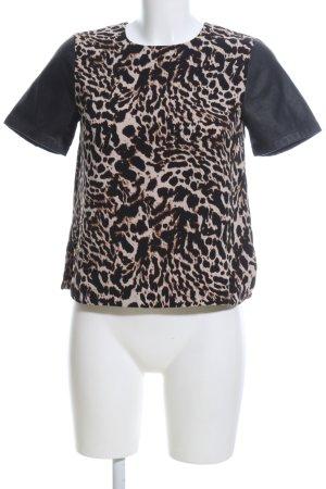 H&M Print-Shirt Animalmuster Casual-Look