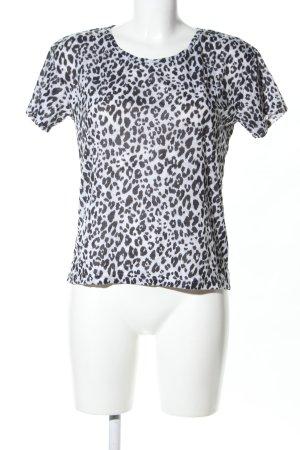 H&M Shirt met print wit-zwart luipaardprint casual uitstraling