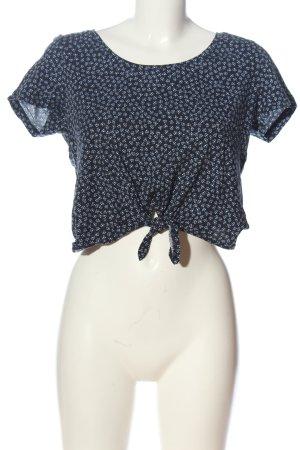 H&M Print-Shirt schwarz-weiß Allover-Druck Casual-Look