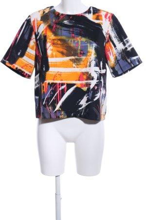 H&M Print-Shirt abstraktes Muster Casual-Look