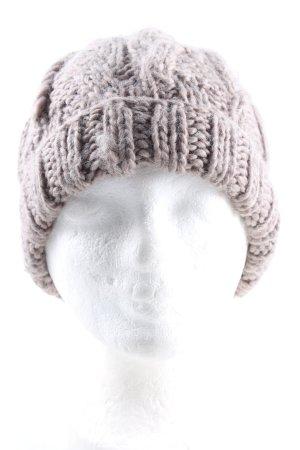 H&M Gorro con borla lila punto trenzado look casual