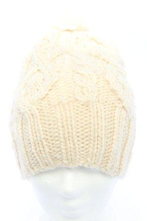 H&M Bobble Hat cream cable stitch casual look
