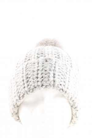 H&M Bobble Hat light grey cable stitch casual look