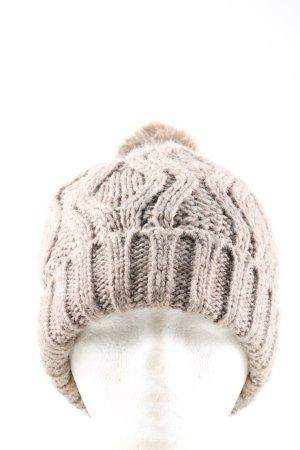 H&M Cappello con pon pon grigio chiaro punto treccia stile casual