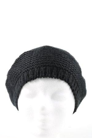 H&M Bonnet à pompon noir style décontracté