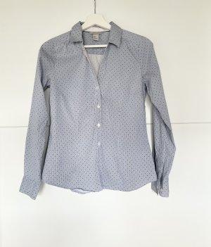 H&M Pünktchen Bluse blau weiss