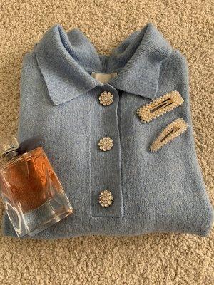 H&M Pull tricoté bleu clair-bleu azur