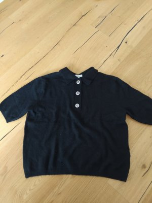 H&M Short Sleeve Sweater black