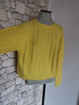 H&M Jersey de punto grueso amarillo claro