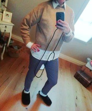 H&M Pulli Pullover Strick Knit Turtleneck Beige Camel