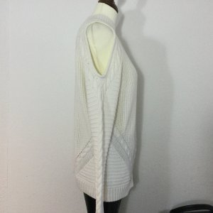 H & M Pulli Strickpulli beige Cut Out Baumwollgem. Neuwertig Damen