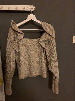 H&M Warkoczowy sweter jasnobrązowy