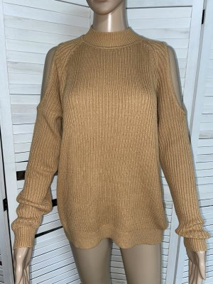 H&M Pullover Cut Out Camel Gr. S