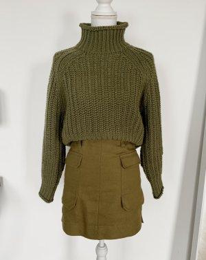 H&M Pullover Gr. 34 Grün Rollkragen