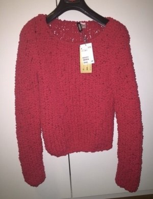 H&M Pull polaire rouge fluo