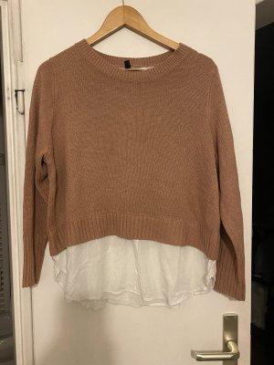 H&M Pullover L 40 mit Bluse einsatz