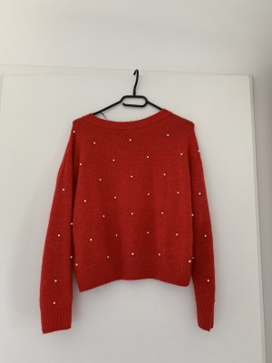 H&M Pull de Noël rouge foncé-rouge carmin