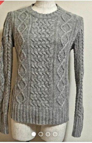 H&M Maglione intrecciato grigio