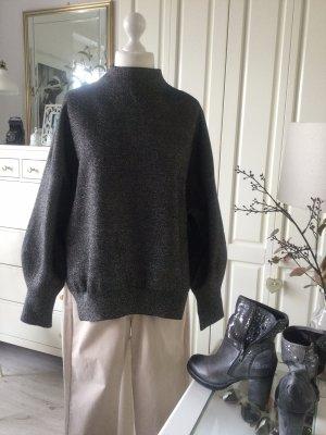 H&M Pullover Oversize schwarz Lameefaden Gr. M