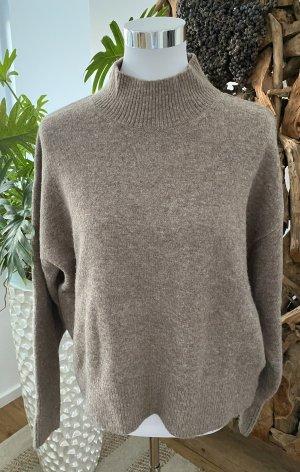 H&M Pullover Pulli Oversize Stehkragen mit Wolle NP 50€ Blogger NEU