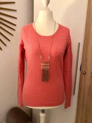 H&M Warkoczowy sweter różowy-różowy