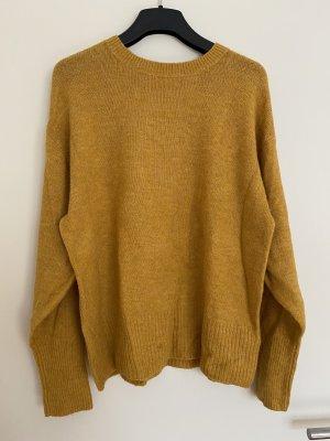 H&M L.O.G.G. Wełniany sweter bladożółty