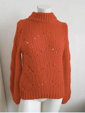 H&M Pullover Strick Rot langarm wie Neu! GR.34