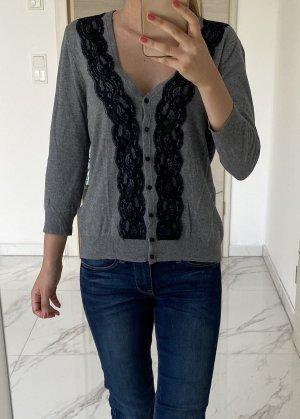 H&M Sweter z dzianiny szary-czarny