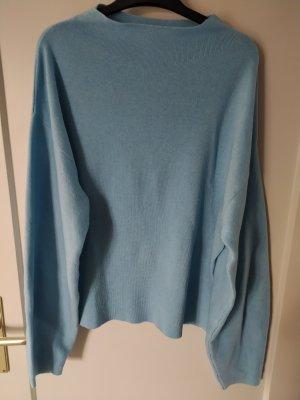 H&M Sweter oversize turkusowy
