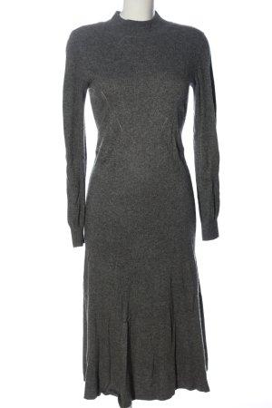 H&M Vestido tipo jersey gris claro moteado look casual