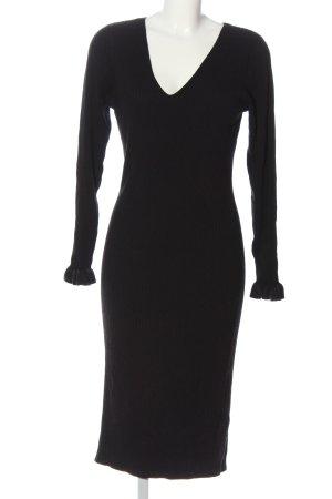 H&M Swetrowa sukienka czarny W stylu casual